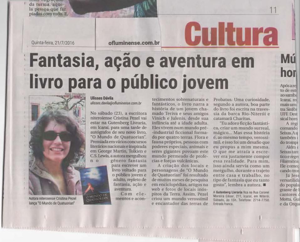 O MUNDO DE QUATUORIAN no O Fluminense