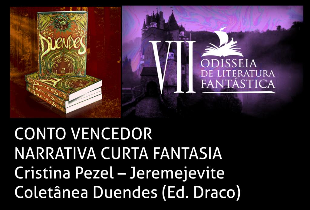 Vencedora do Prêmio Odisseia de Literatura Fantástica 2020 - JEREMEJEVITE